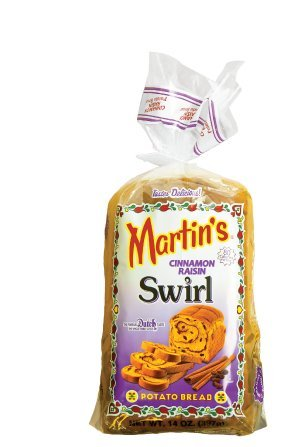 Martin's Cinnamon Raisin Swirl Potato Bread - Pack of - Lancaster Pa Outlets