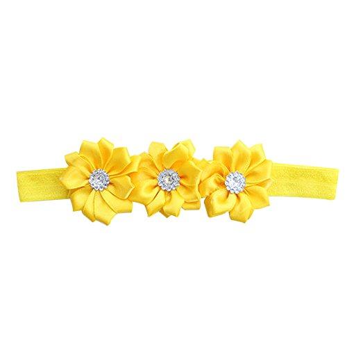 [BlueTop(TM) Unusal Cotton Girls Baby Diamond Flower Hairclip Hairband Headband (yellow)] (12 Month Girl Costume)