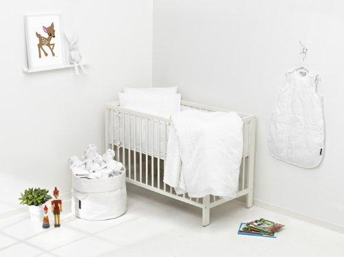 White Edition Housse Couette Blanc 100 x 130 cm Elodie Details Parure de Lit B/éb/é