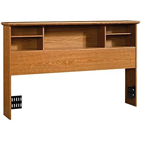 Sauder Orchard Hills Bookcase Headboard Full Queen Carolina Oak