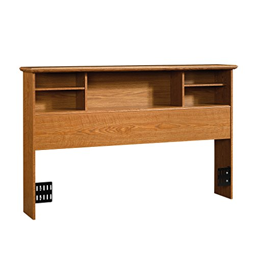 Sauder Orchard Hills Bookcase Headboard, Full/Queen, Carolina Oak (Oak Contemporary Headboard)
