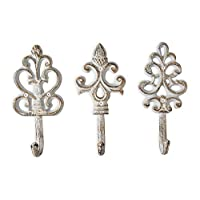 Ganci decorativi in ghisa Shabby Chic – Rustico – Dorato – Bianco Rustico – Metallico – Fascino di campagna francese…