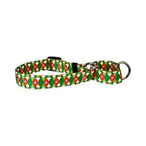 """Christmas Cheer Martingale Control Dog Collar - Size Large 26"""" Long - Made In The USA"""