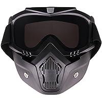 PiscatorZone - visores tácticos para niños con máscara facial desmontable para ciclismo, esquí, al aire libre, niños, paintball CS