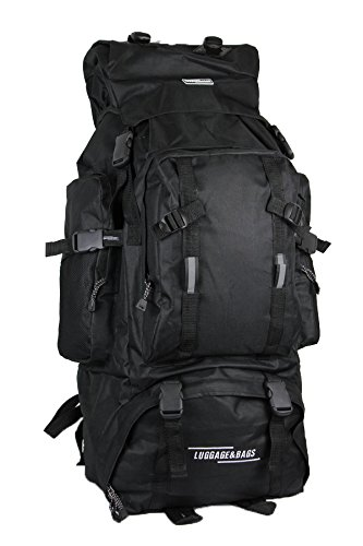 120 Litre Extra Large Hiking Travel Backpack Camping Rucksack Top and Bottom Loading