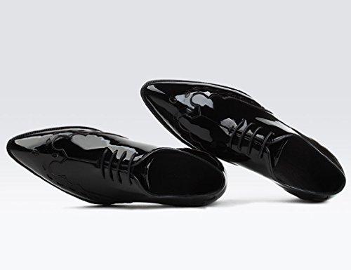 a Pelle da uomo Uomo in pizzo HWF Scarpe Nero EU43 sposa dimensioni Colore UK8 in punta pelle da Cerimonia in scarpe Nero Affari Scarpe p5a5nxWTv