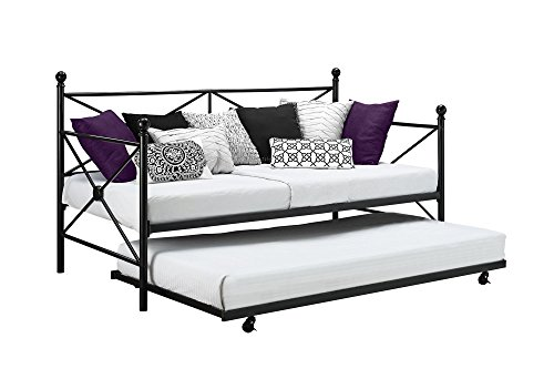 tal Daybed Roll Out Trundle Combo, Crisscross Design, Twin Size (Daybed Roll Out Trundle)