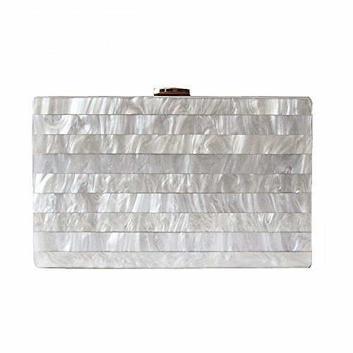 Brand Fashion Woman Evening Bags New Marble Solid Party Clutch Elegant Wedding Wallet Luxury Acrylic Handbag