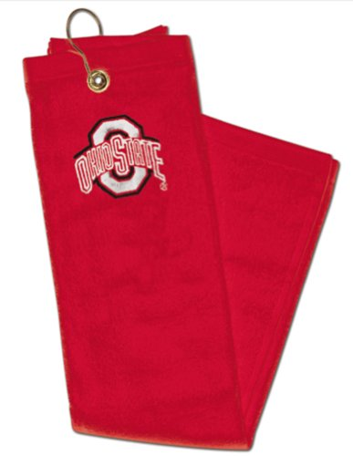 McArthur NCAA Ohio State Buckeyes Cotton Velour Tri-Fold Embroidered Golf Towel
