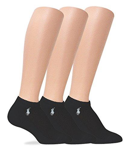 Ralph Lauren Hosiery RL Sport Cushion Foot Sock 3 Pair Pack (7370) one size/Black