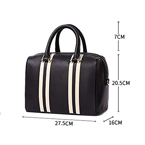 Pillow Shoulder Bag Color Contrast Leisure Women's Boston Rlf Handle Soft Type By Street Simple Tote Bags Black One Appointment lf Crossbody wSqCZY