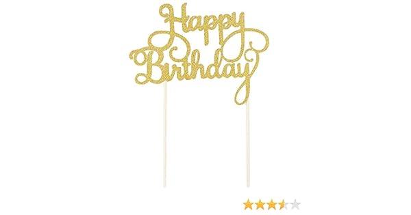 merssavo decoración para tarta para cumpleaños feliz cumpleaños ...