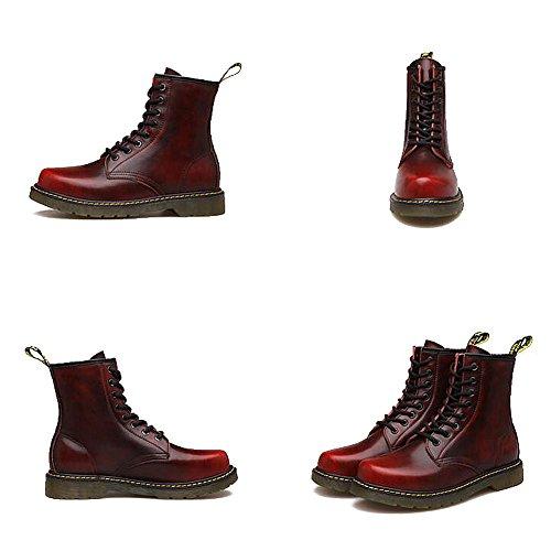 Herren freizeitschuhe kleid bergsteigen herbst outdoor oxford-schuhe stiefel rutschen schwarzbraun-B Fußlänge=43EU