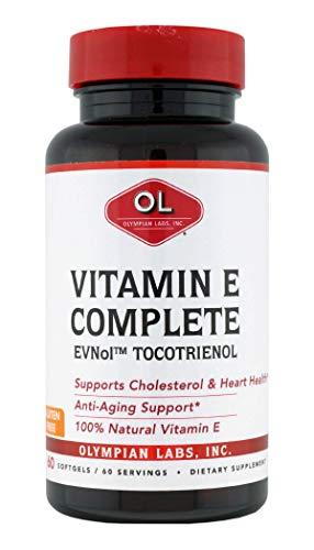 Olympian Labs Tocomin Tocotrienol Vitamin E Complete, 60 Softgels