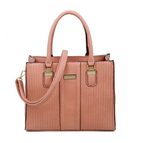 LeahWard Women's Two Tone Shaped Nice Great Handbags Tote Bags PINK BAG
