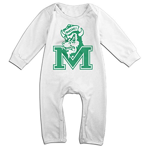 [Ahey Babys Marshall University Thundering Herd Long Sleeve Jumpsuit Outfits 12 Months] (Baby Golfer Costume)