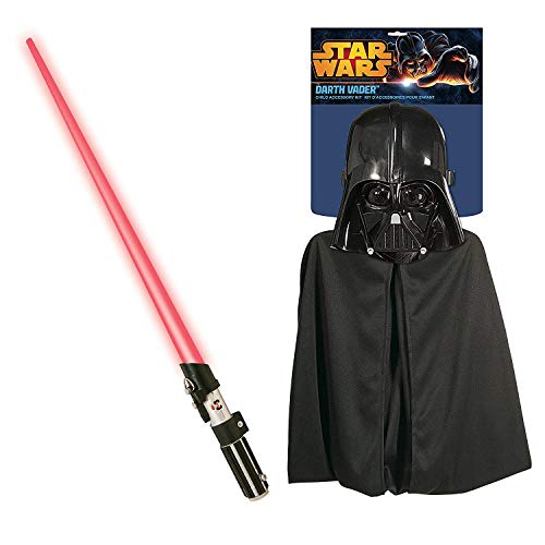 Rubie's Star Wars Darth Vader Cape, Mask, and Lightsaber Set -