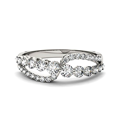 Forever Brilliant Round 3.0mm Moissanite Band Style Ring-size 7, 0.64cttw DEW By Charles & Colvard by Charles & Colvard (Image #3)