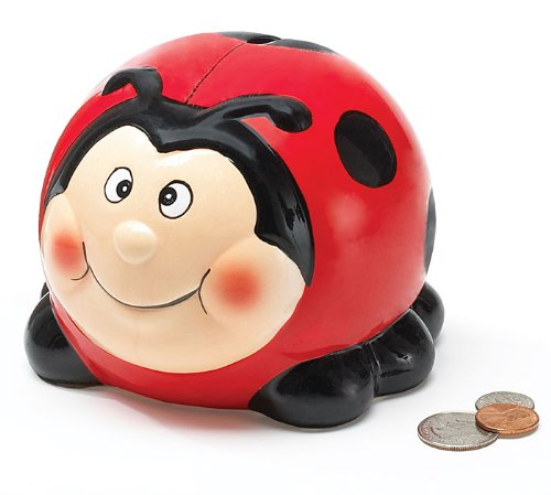 Ladybug Collection - Adorable Ladybug Lady Bug Piggy Bank Great Gift Burton & Burton 6053161