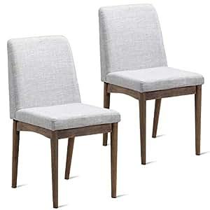 Amazon.com: Dayanaprincess - Juego de 2 sillas de comedor ...