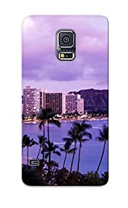Tpu Case Cover For Galaxy S5 Strong Protect Case - Waikiki Beach Honolulu Oahu Hawaii Design