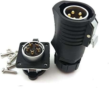-Socket male 3PIN, Plug LP-20 3pin Waterproof Power Cable Connector IP65 Solar Panel Charge Connector 20A 500V High Voltage Aviation Connector female