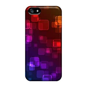 Rugged Skin Cases Covers For Iphone 5/5s- Eco-friendly Packaging(color Bokeh)