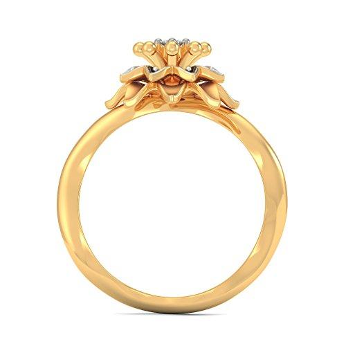 14K Or jaune, 0.11carat Diamant Blanc (IJ | SI) en diamant