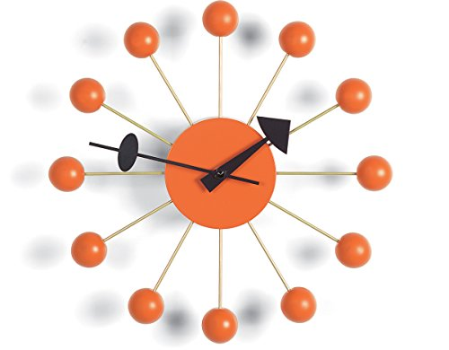 Vitra Ball Clock by George Nelson - Orange