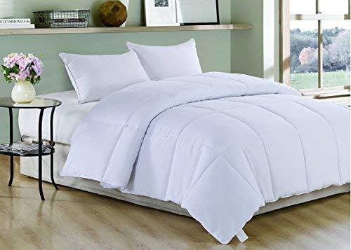 Christies Home Living Polyester Warmth King Down Alternative Comforter Duvet Insert, White