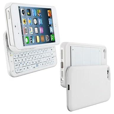 Skque carcasa plástico duro blanco para iPhone 5 con teclado Bluetooth Wireless - Diseño de EE.UU.: Amazon.es: Electrónica