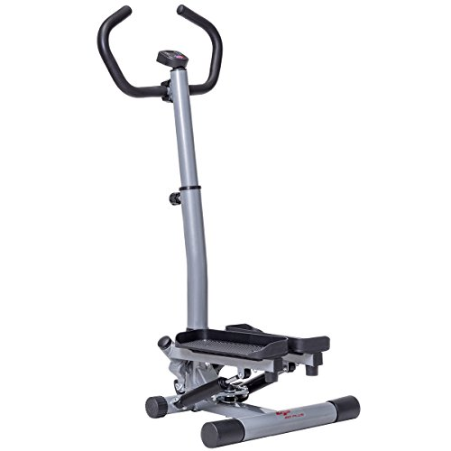 Goplus Twister Stepper 2 in 1 Step Machine Fitness Exercise Workout Cardio Trainer Stair Climber with Handle Bar and LCD Display