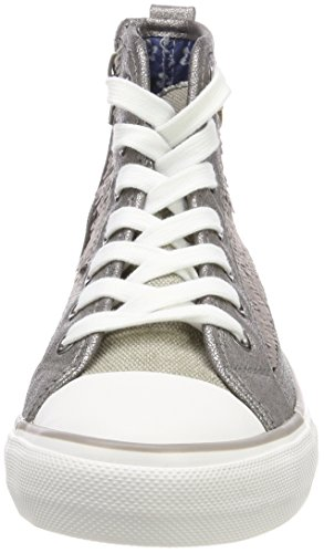 silver Cap Hanna Fritzi Sequin Donna Argent Aus Preussen Alto Collo Sneaker Toe 7wZSfxg