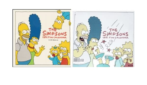 The Simpsons 1991 Fun Calendar Matt Groening 9780679728719 Amazon