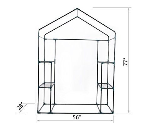 GOJOOASIS Walk in Portable Garden Greenhouse Mini Plants Shed Hot House with 3 Tiers by GOJOOASIS (Image #1)