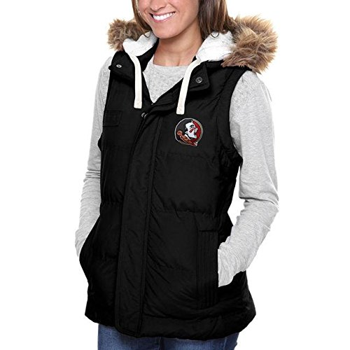 荷物打たれたトラックインスタンスFanatics Branded Florida State Seminoles Women's Black Yukon Team Logo Vest アウターウェア ジャケット/アウター 【並行輸入品】
