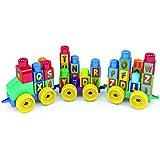 Brinquedo Educativo Trem Alfabeto 44 Pecas - 01 Unidade Dismat Multicor