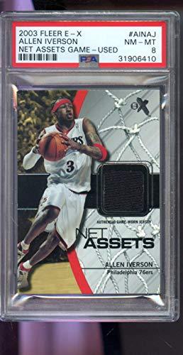size 40 17f50 6dc14 Amazon.com: 2003-04 Fleer E-X New Assets Allen Iverson 03-04 ...