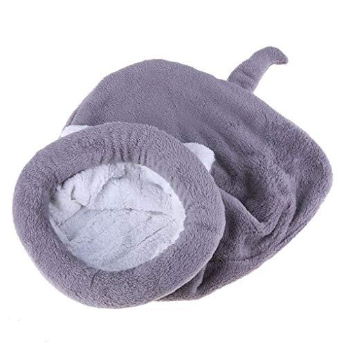 (Krastal Pet Dog House Cute Cat Sleeping Bag Fleece Warm Dog Cat Bed Lovely Velvet Soft Pet Warm Mat Cushion)