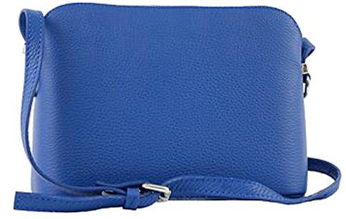 G&G PELLETTERIA - Bolso cruzados de Piel para mujer azul (bluette)