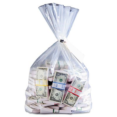 MMF Industries Currency Deposit Bags, 12 x 20 Inches, Clear, 100/Box (MMF206410520) by MMF Industries