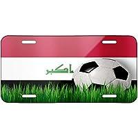 ClustersNN Soccer Team Flag Iraq Metal License Plate 6X12 Inch