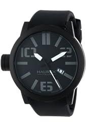 Haurex Italy Men's 1N377UNN Turbina Black IP Case Black Dial Silicone Date Watch