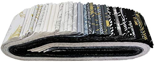 Sparkle and Fade Metal Bali Pop 40 2.5-inch Strips Jelly Roll Hoffman Fabrics SFP-697-METAL