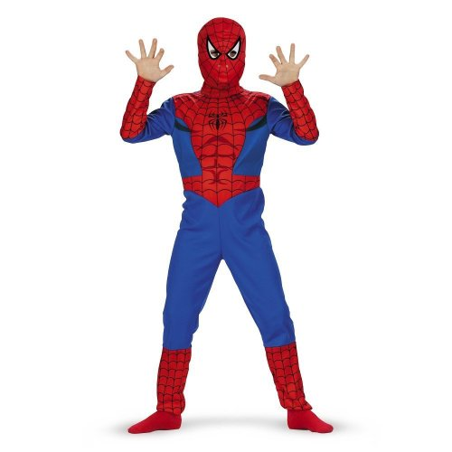 [Spiderman, Classic - Size: Child S(4-6)(Discontinued by manufacturer)] (Hero Costumes For Men)
