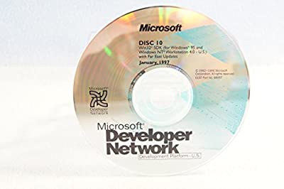 Microsoft Developer Network Win32 SDK Windows NT Workstation with Far East Updates-Disc #10 Part Number: 98057-Date: January 1997-PC Computer Software Program-Single Replacement Disc