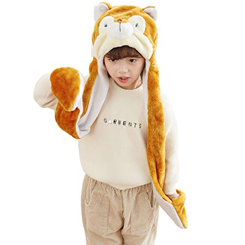 PULAMA Winter Animal Hat Set Cap 3-17yr Kids Cosplay Party Costume Toy Squirrel ()