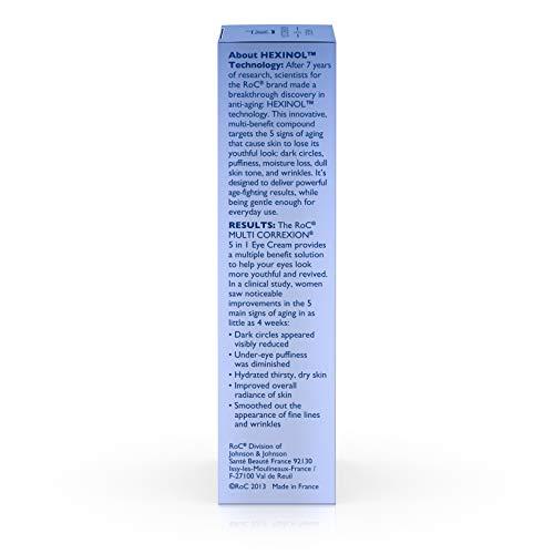 41em%2BQoDhrL - RoC Multi Correxion 5 in 1 Eye Cream, Anti-Aging Treatment Made with Hexinol Technology,.5 fl. oz