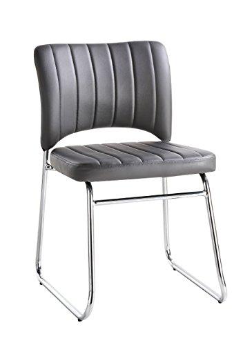 Homelegance Chromis 2-Piece Pack Bi-cast Vinyl Metal Dining Chairs, Gray - Homelegance Dining Room Chair