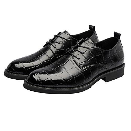 45 supérieure BLK homme Chaussures respirant bas Texture lacets mocassins cuir option 2018 hommes Couleur doublure Oxfords PU pour en EU Taille Loafer à Chaussures carrée affaires Noir en vgd4xwqg